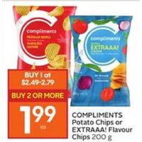 Compliments Potato Chips Or Extraaa! Flavour Chips