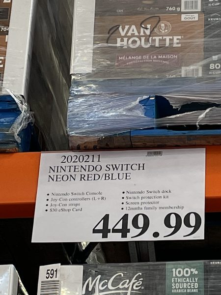 Costco Nintendo Switch 30 Nintendo Gc Family Membership 449 99 Page 2 Redflagdeals Com Forums This is an unboxing video of the nintendo switch bundle. costco nintendo switch 30 nintendo