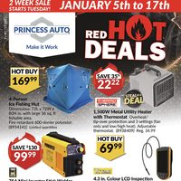 Princess Auto - 2 Week Sale - Red Hot Deals Flyer