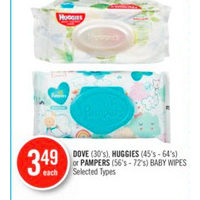 Dove, Huggies Or Pampers Baby Wipes