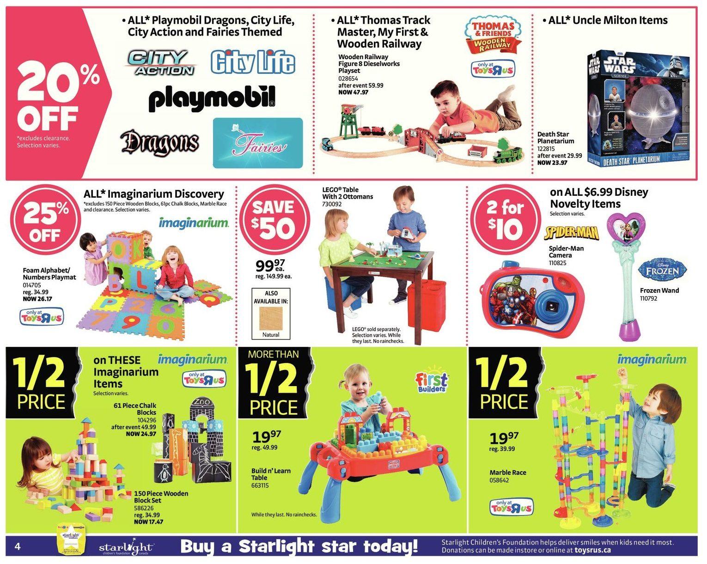 Toys R Us Weekly Flyer 1 2 Price Event Starts Black Friday Nov Ps4 Birthdays The Beginning Reg 28 Dec 4