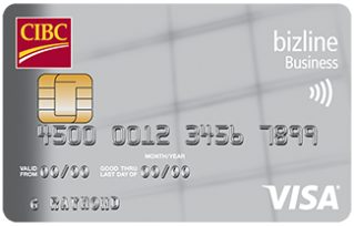 Compare best business credit cards in canada redflagdeals credit cards cibc bizline visa card for small business reheart Gallery
