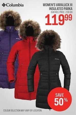 Sport Chek Women S Columbia Varaluck Iii Insulated Jacket Redflagdeals Com