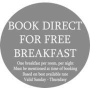 Book Direct for a Free Breakfast ($15.00 Value)