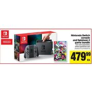 Real Canadian Superstore Nintendo Switch Console And Splatoon 2 Game Bundle Redflagdeals Com See all the different nintendo switch bundles and offers available here at the most competitive price points. nintendo switch console and splatoon 2