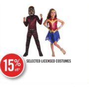 15% Off Selected Licensed Costumes