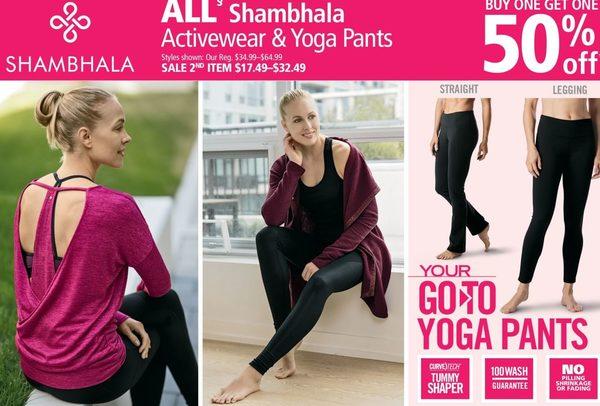 def63201d8981 Mark's All Shambhala Activewear & Yoga Pants - BOGO 50% off All Shambhala  Activewear & Yoga Pants