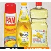 Becel Oil, PC Canola Oil or Pam Cooking Spray - $3.99