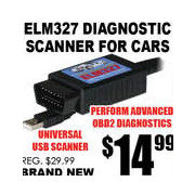 Elm327 Diagnostic Scanner For Cars - $14.99