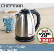 Chefman Cordless Jug Kettle (Stainless Steel) - $29.99 (40% off)