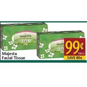 Majesta Facial Tissue  - $0.99/136 ct ($0.80 off)