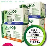 Bio-K+ Probiotic Drinks  - $19.99