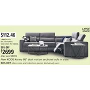 "Kode Kenny 86"" Dual Motion Sectional Sofa - $2699.00 (50% off)"