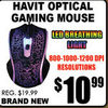 Havit Optical Gaming Mouse - $10.99