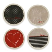 Ed Ellen Degeneres Love Collection Coasters (Set of 4) - $7.99 ($9.00 Off)