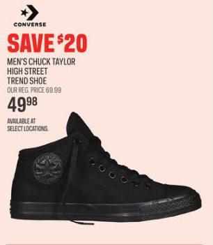 1b078566a5f0 Sport Chek Converse Men s Chuck Taylor High Street Trend Shoe -  49.98  ( 20.00 off) Converse Men s Chuck Taylor High Street Trend Shoe