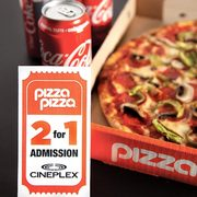 Pizza Pizza Dinner + Movie Deal: Get a Cineplex 2-for-1 Movie Admission with Select Pizza Meals