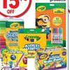 Crayola Products - 15% off