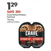 Crave Perfect Portions Cat Food - $1.29 ($0.20 off)