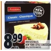 Irresistibles New York Style Cheesecake - $8.99
