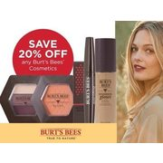 Burt's Bees Cosmetics  - 20% off