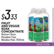 Nature Clean Fruit And Veggie Soak Concentrate - $3.33 ($1.06 off)