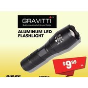 Gravitti Aluminum Led Flashlight - $9.99