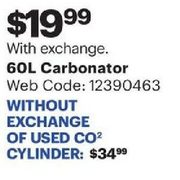 Best Buy: 60l Carbonator Without Exchange of Used Co2