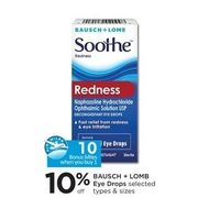 Bausch + Lomb Eye Drops - 10% off
