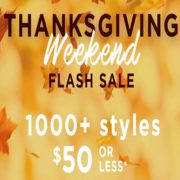 Le Chateau Outlet Thanksgiving Weekend Flash Sale: 1000s of Styles for $50 or Less