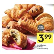 100% Butter Pastries - $3.99