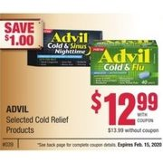 Advil Cold Relief Products - $12.99/with coupon ($1.00 off)