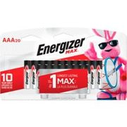 Energizer Max Aaa Batteries, 20-pk - $13.99 ($6.00 Off)