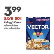 Kellogg's Cereal - $3.99 ($0.50 off)