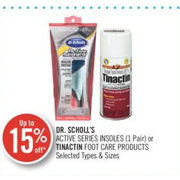Dr Scholl's Active Series Insoles Or Tinactin Foot Care Products - Up to 15% off