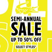 Lacoste Semi-Annual Sale: Up to 50% off Select Styles