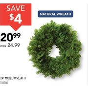 "24"" Mixed Wreath  - $20.99 ($4.00 off)"